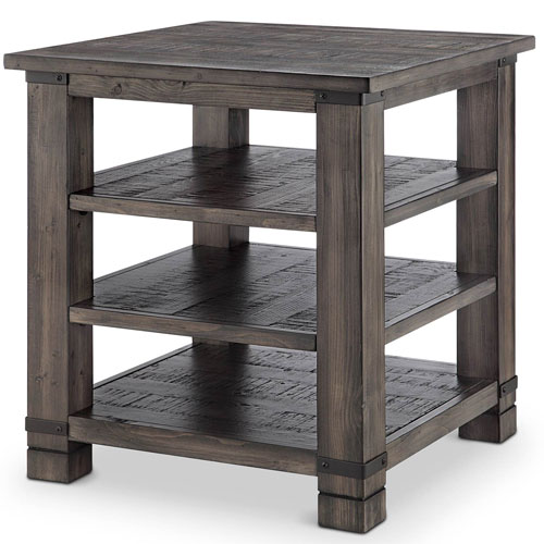 251 First River Station Square End Table in Rustic Pine