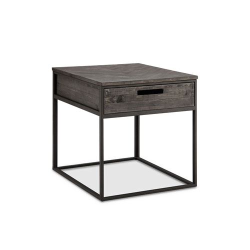 251 First Fulton Rectangular End Table in Weathered Charcoal