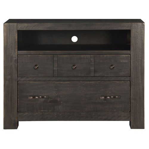 River Station 2 Drawer Media Chest in Dark Chocolate