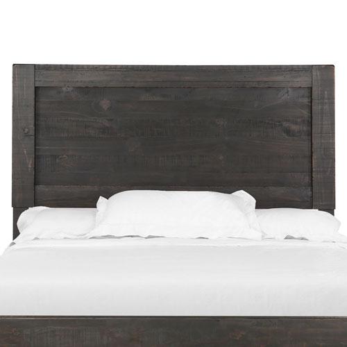 River Station Panel Bed Headboard in Dark Chocolate - Queen