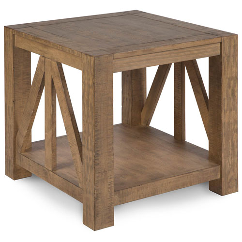251 First Fulton Weathered Toffee Rectangular End Table