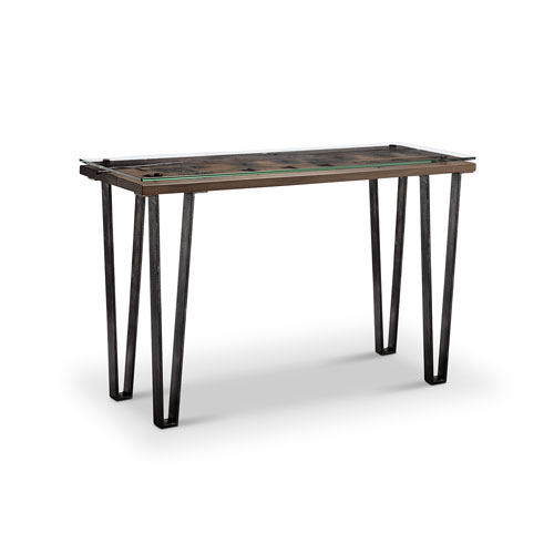 River Station Natural Industrial Kitchen Cart 251 First: Hall Tables Accent Tables Free Shipping