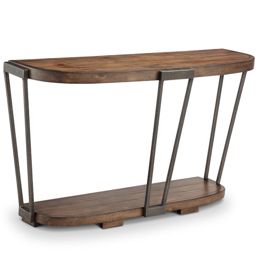 251 First Afton Industrial Bourbon and Aged Iron Entryway Table