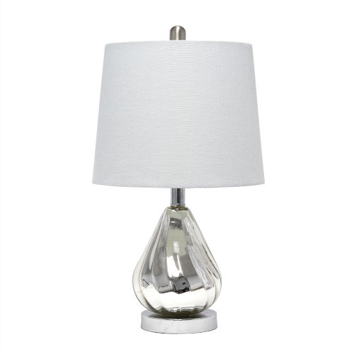 Cerise Chrome Gray One-Light Table Lamp