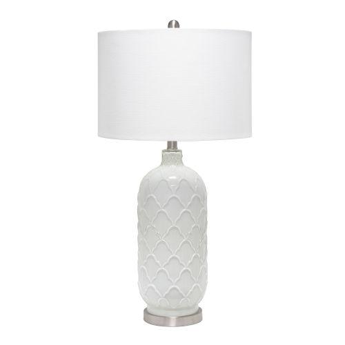 Opal White One-Light Table Lamp
