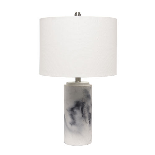 Erin Marble White One-Light Table Lamp