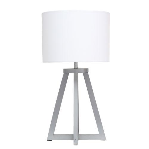 Alloy Gray White One-Light Table Lamp