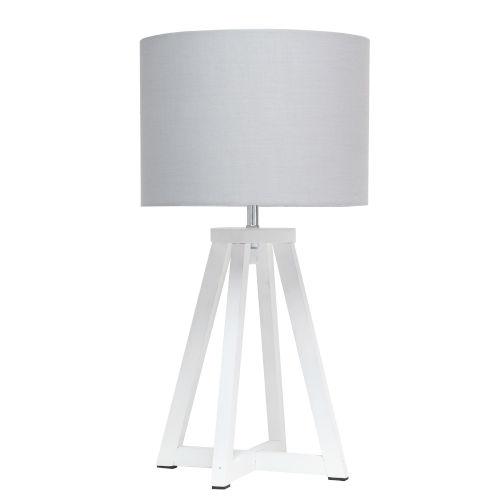 Alloy White Gray One-Light Table Lamp