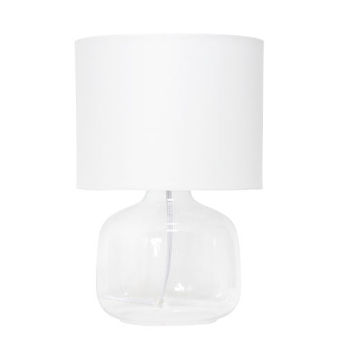 Cerise Clear White One-Light Table Lamp