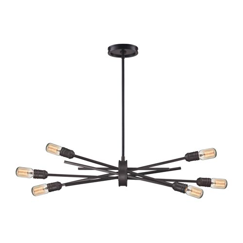 Uptown Oil Rubbed Bronze Six-Light Pendant