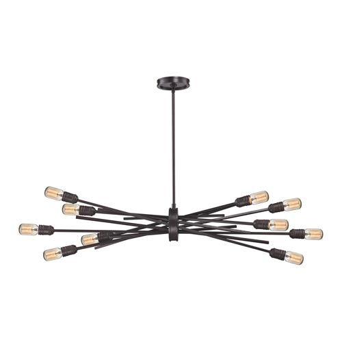 Uptown Oil Rubbed Bronze Ten-Light Pendant