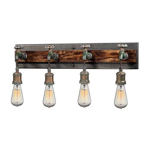 River Station Multicolor Weathered Four-Light Wall Sconce