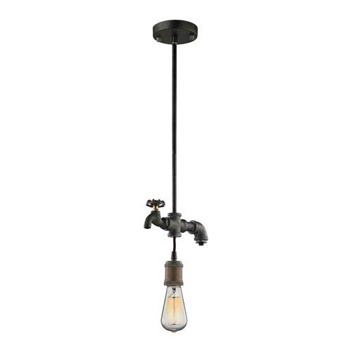 River Station Multicolor Weathered One-Light Mini Pendant