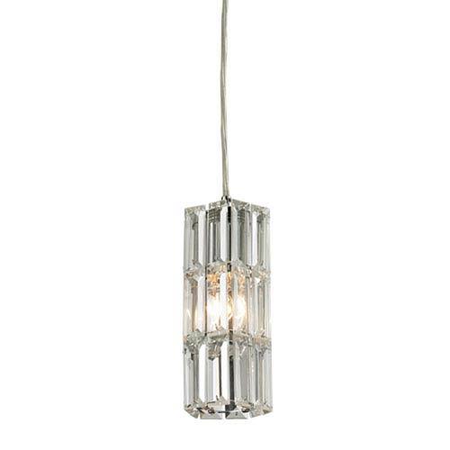 Vivian Polished Chrome 3-Inch One-Light Mini Pendant