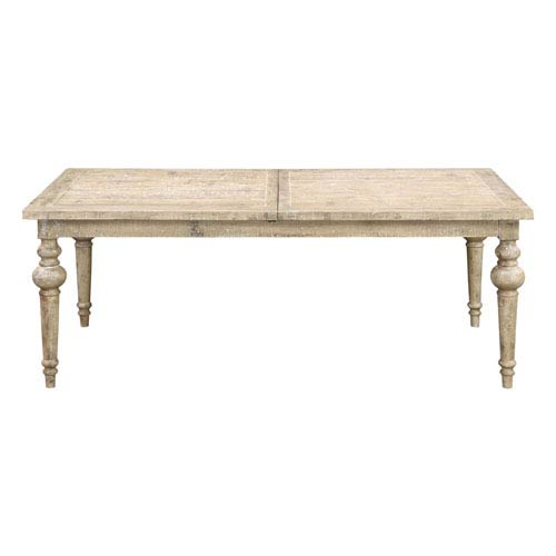 Grace Weathered Pine Dining Table with 28-inch Butterfly Leaf