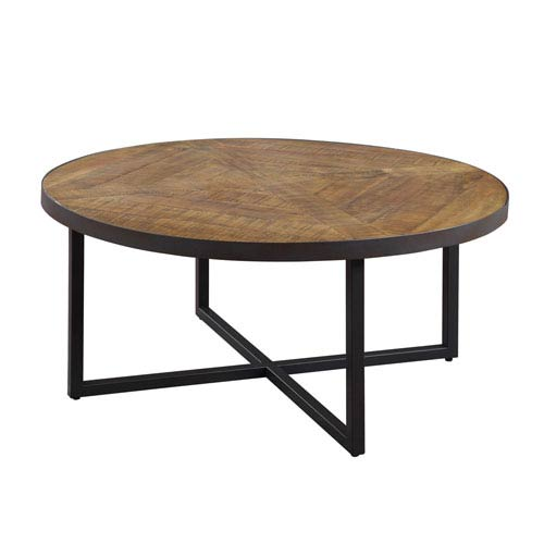 251 First Fulton Antique Pine Round Cocktail Table