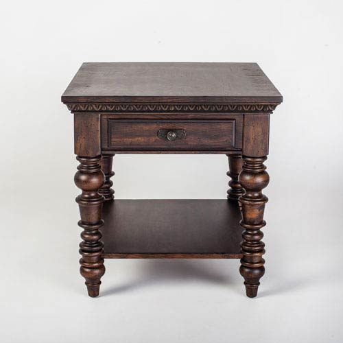 251 First Aster Brown End Table