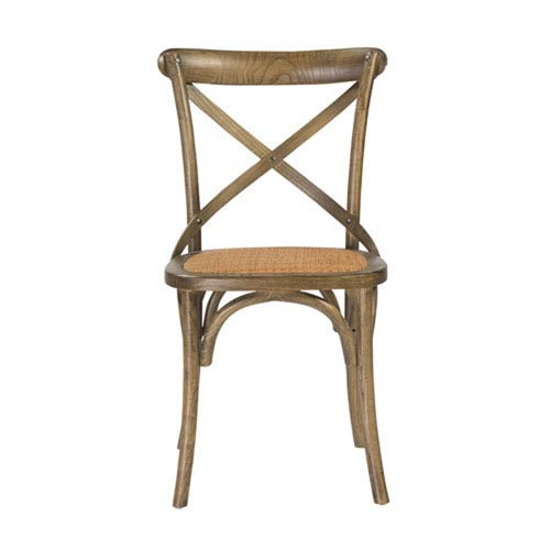 251 First Afton Side Chair in Antique Gray and Antique Rattan, Set of 2 - Rattan Side Chair Bellacor
