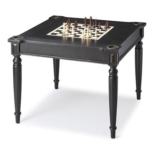 Wellington Black Licorice Multi Game Card Table