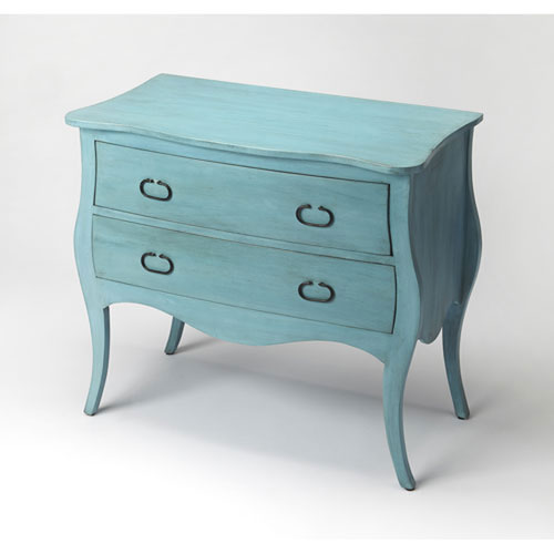 Quinn Distressed Blue Drawer Chest