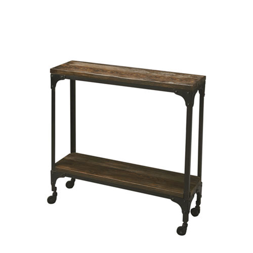 251 First Fulton Burnt Umber Wood Console Table