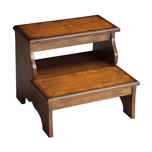 Wellington Olive Ash Burl Step Stool