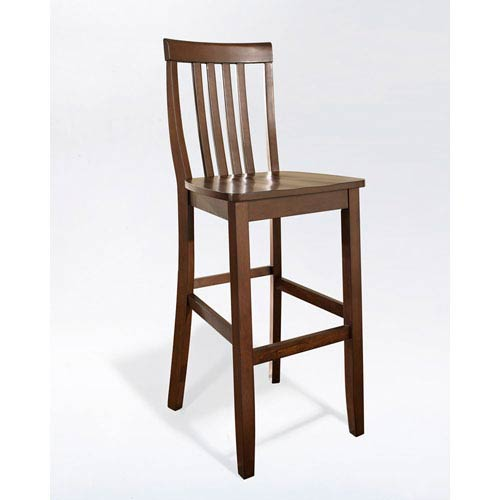 251 First Evelyn Bar Stool In Mahogany Finish With 30 Inch Seat Height Set Of