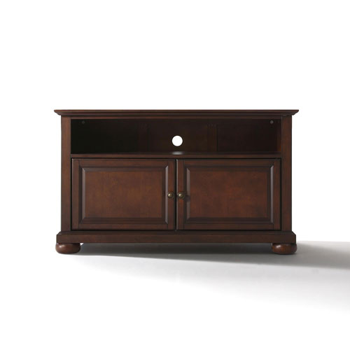 251 First Wellington 42-Inch TV Stand in Vintage Mahogany Finish