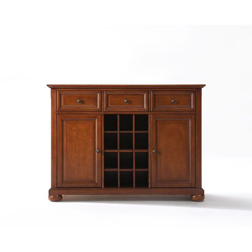 251 First Wellington Buffet Server/Sideboard Cabinet with Wine Storage in Classic Cherry Finish