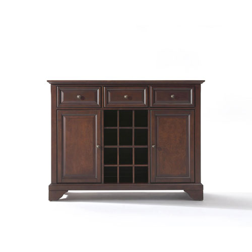 251 First Wellington Buffet Server/Sideboard Cabinet with Wine Storage in Vintage Mahogany Finish