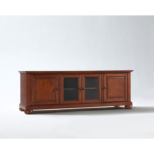 251 First Wellington 60-Inch Low Profile TV Stand in Classic Cherry Finish