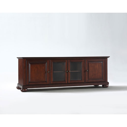 Wellington 60-Inch Low Profile TV Stand in Vintage Mahogany Finish