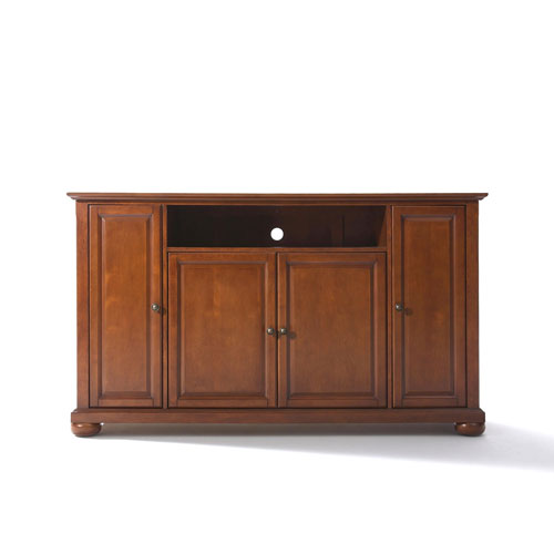 251 First Wellington 60-Inch TV Stand in Classic Cherry Finish