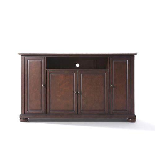 251 First Wellington 60-Inch TV Stand in Vintage Mahogany Finish
