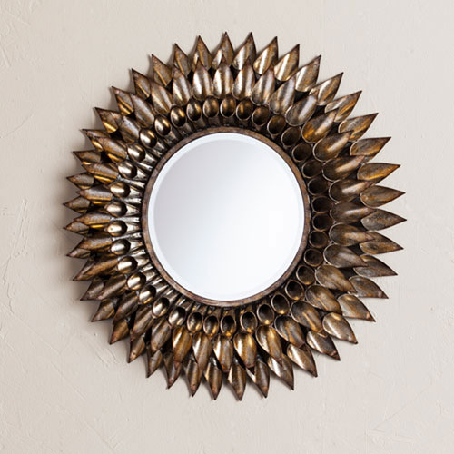 Selby Silver Round Decorative Wall Mirror