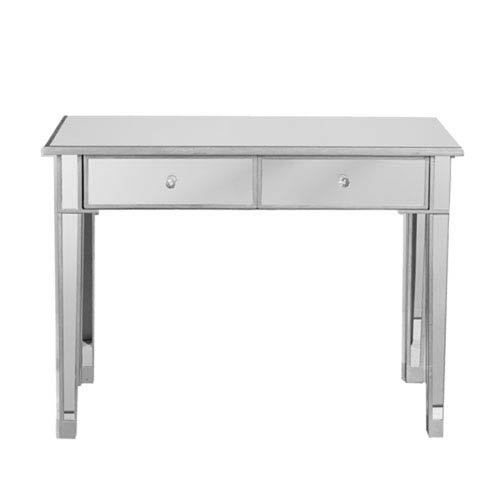 251 First Vivian Silver Two Drawer Mirrored Console Table