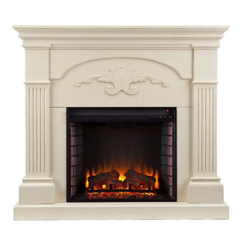 Evelyn Ivory Electric Fireplace