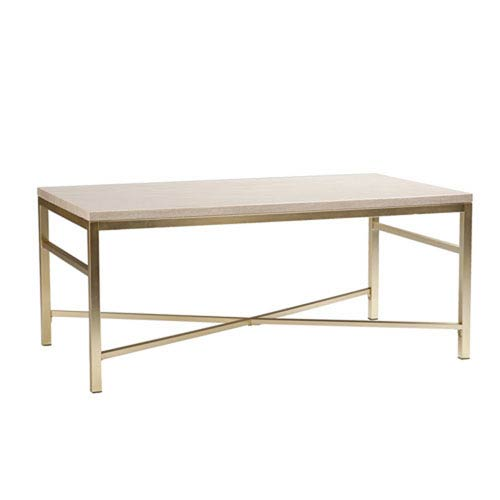 Selby Cream Stone Faux Stone Cocktail Table