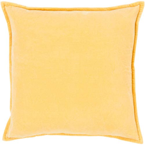 Loring Velvet Yellow 13 x 9 In. Pillow with Poly Fill