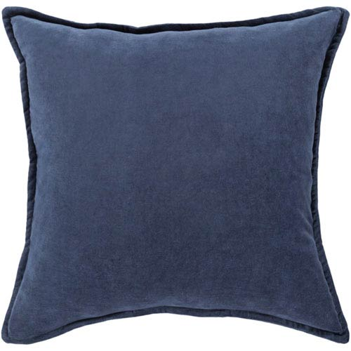 Loring Navy Cotton Velvet I8 In. Throw Pillow