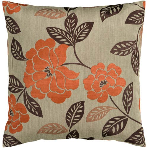 251 First Evelyn Orange Blossom 18 In. Throw Pillow with Poly Fill