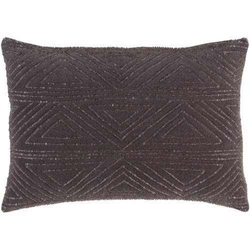 251 First Evelyn Charcoal 13 x 19 In. Throw Pillow with Poly Fill