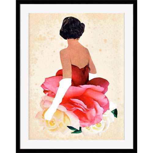 251 First Vivian Flower Woman 16 x 18 In. Wall Art