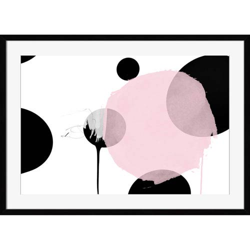 Cooper Blue and Black Dots 36 x 27 In. Wall Art