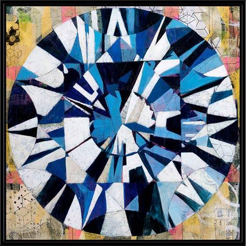 251 First Monroe Blue Diamond 24 In. Wall Art