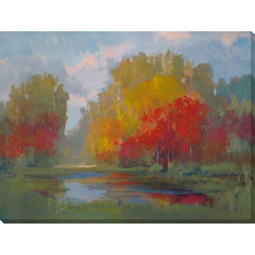 Quinn Fall Pond 28 x 21 In. Wall Art