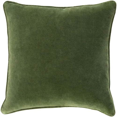 Aster Olive Green 18 In. Throw Pillow with Poly Fill