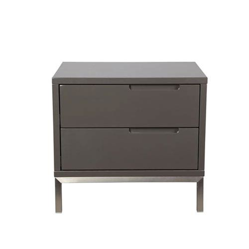 251 First Uptown Grey Side Table