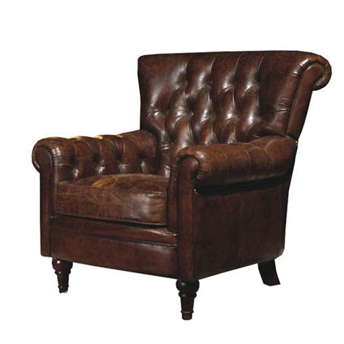 Afton Dark Brown Club Chair
