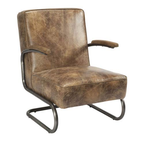 River Station Light Brown Club Chair